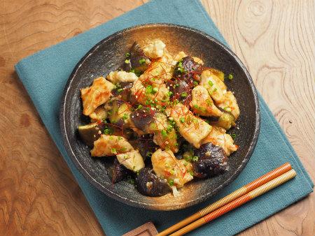 鶏むね肉茄子味噌炒め10