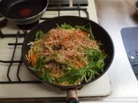 水菜のぽん酢焼きそば22