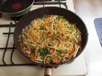 水菜のぽん酢焼きそば24