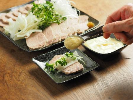 ゆで豚柚子こしょうマヨネーズ45