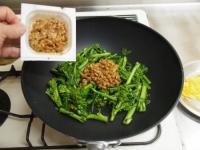 菜の花納豆炒め18
