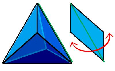 あめちゃん(三角玉)の図