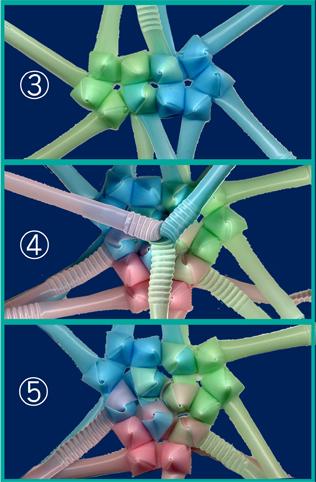 三角玉でくす玉 作り方8