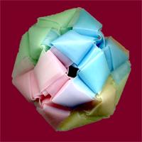 三角玉でくす玉 作り方4-5