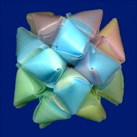 三角玉でくす玉 作り方6