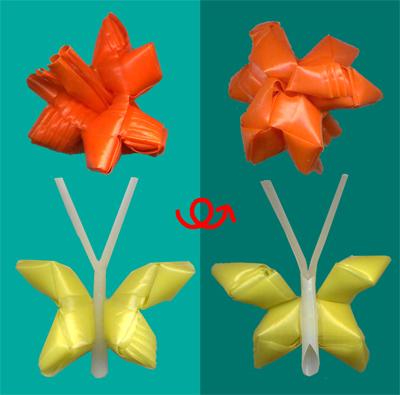 菱玉で花とちょう