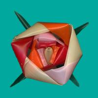 三角玉でバラ 07