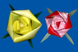 三角玉でバラ 08