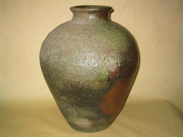 古丹波自然釉壺 室町中期140萬