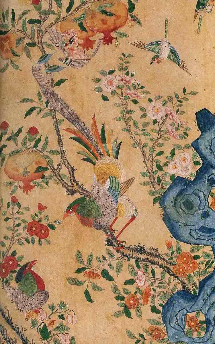 朝鮮民画「花鳥図-宮廷画家も描いた上手編」8