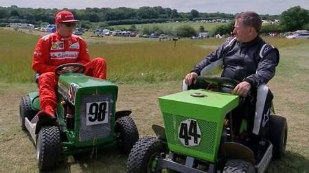 F1イギリスGPクラッシュのライコネンが遊んでた
