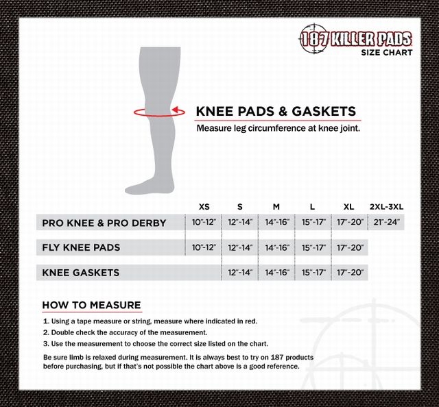 bkog 187 knee sizechart-knee