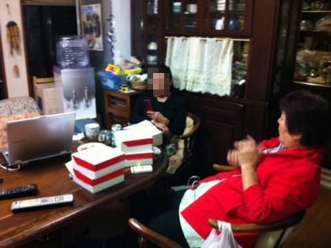 弟の嫁がケーキを配給