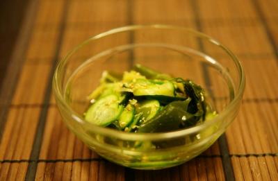 胡瓜と若布の酢の物