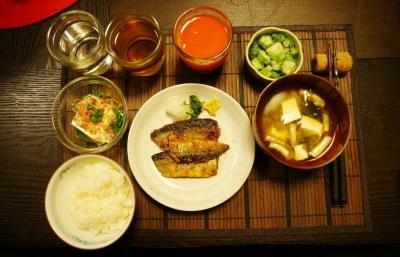 秋刀魚の蒲焼き定食