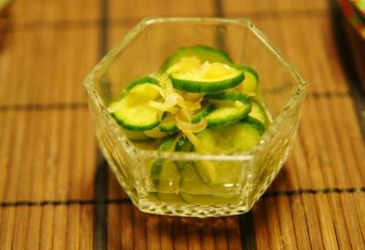 胡瓜と茗荷の酢のもの