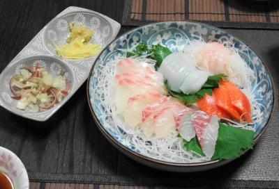 茗荷・生姜・ワサビ・ポン酢