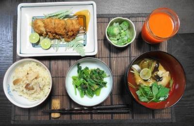 ハモと松茸の夕食
