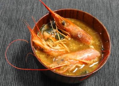 赤海老の味噌汁
