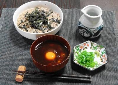 敦盛(熱盛り)蕎麦セット