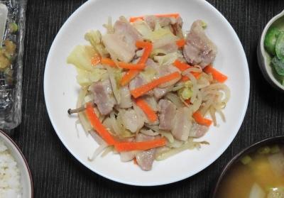 豚といろいろ野菜の塩こうじ炒め