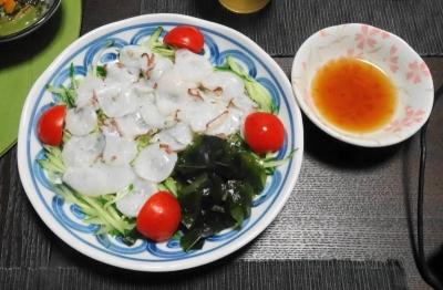 蛸のタタキというか、カルパッチョという言うべきか?