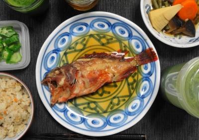 煮魚&炊き合わせのマクロビご飯
