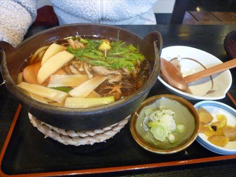 ④鴨うどん鍋in苫小牧 一休そば_R
