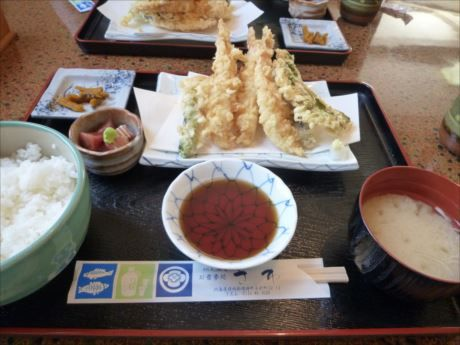 天ぷら定食in余別さわ_R_R