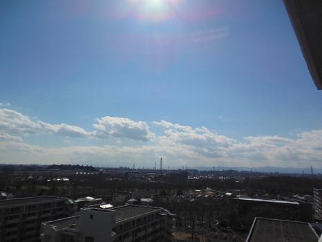 3月15日西の空