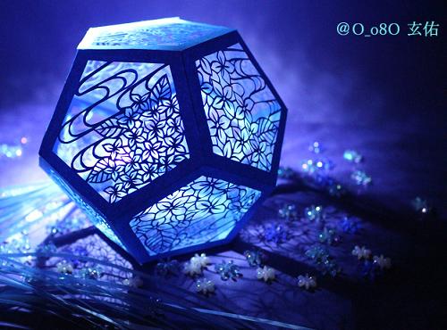 すべての折り紙 折り紙 彦星 織姫 : 立体切り絵、紫陽花模様の ...