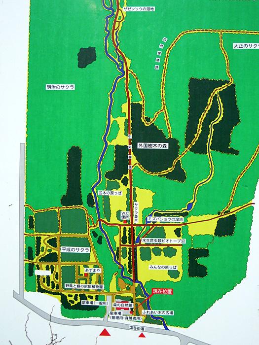 長橋なえぼ公園案内図。