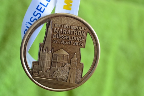 デュッセルドルフマラソン完走メダル
