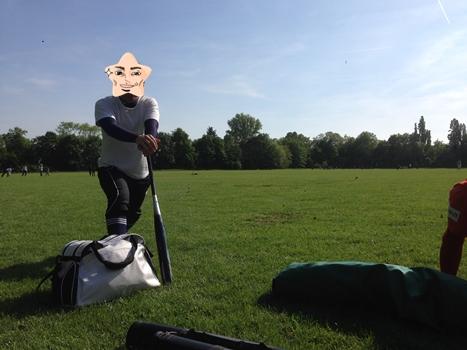 ソフトボール練習場の公園