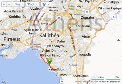 アテネ地図、ランルート