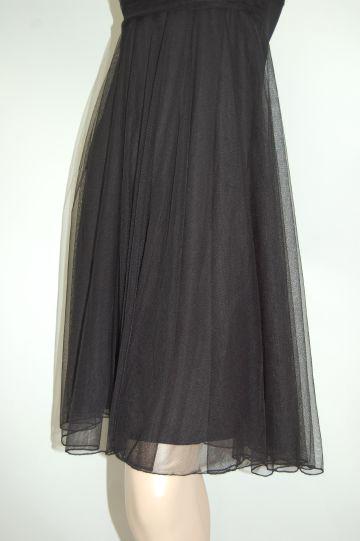 ギャザー キャミワンピ ミディアムドレス
