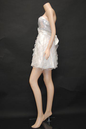 ちょーキラキラスパンコールサテンふわふわスカート ショートドレス