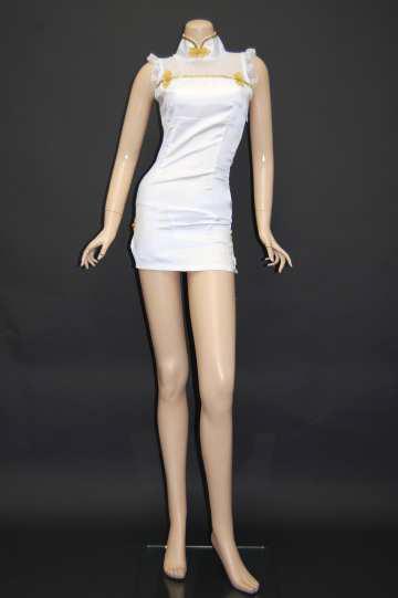 背中セクシーゴールドラインチャイナ ショートドレス