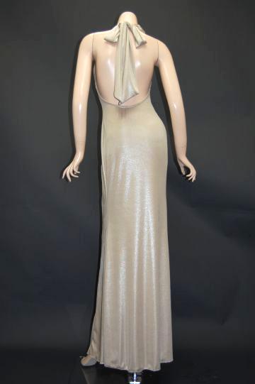 シャイニープリーツ ロングドレス