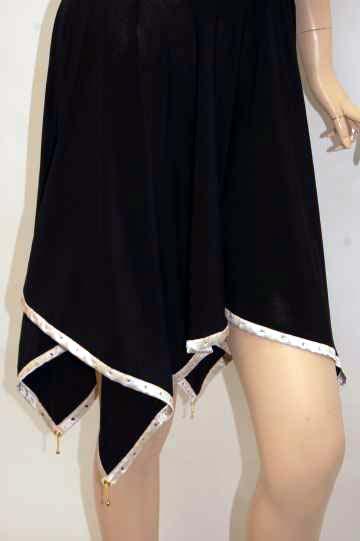 glossオリジナル バック3連チェーン付 ショートドレス