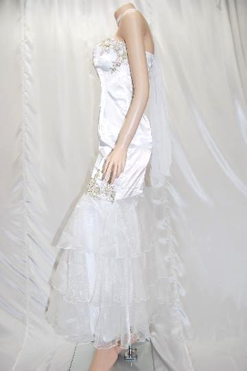 ゴージャス★ベアトップ ロング ドレス