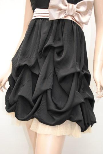 リボン付きバルーンホルター ショートドレス