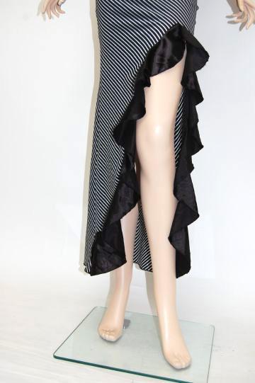ウエストBIGフリル ロングドレス