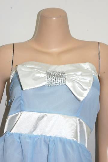 胸元リボン☆3段プリーツグラデーション ショートドレス