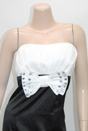 バイカラーリボン付き ロングドレス