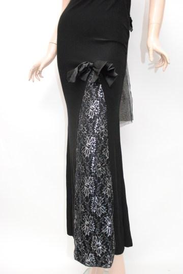 cute バックスタイルトレーン ロングドレス