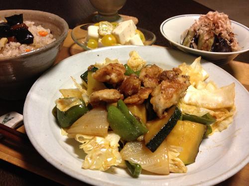 Aug12_鶏と野菜の味噌炒め