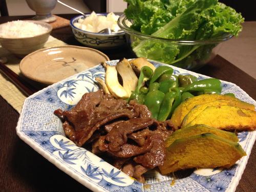 Sep01_焼肉と野菜焼き