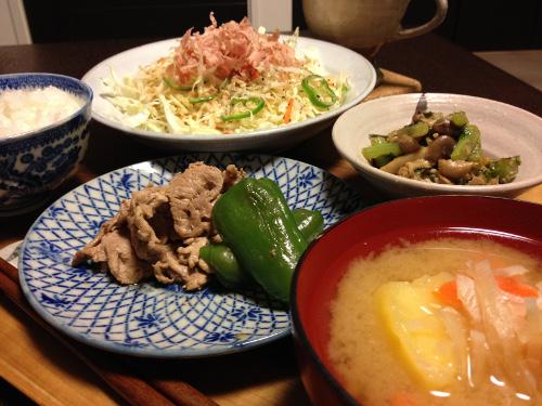Oct14_豚の生姜焼き