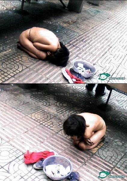 中国児童 物乞い1